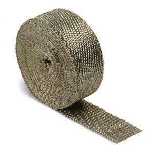 Titanium Lava Exhaust Heat Wrap 10 Mtrs Long